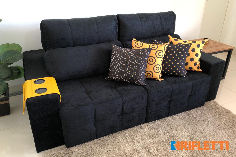 Quer otimizar espaço? Conheça o sofá 3 lugares Connect Plus da Rifletti