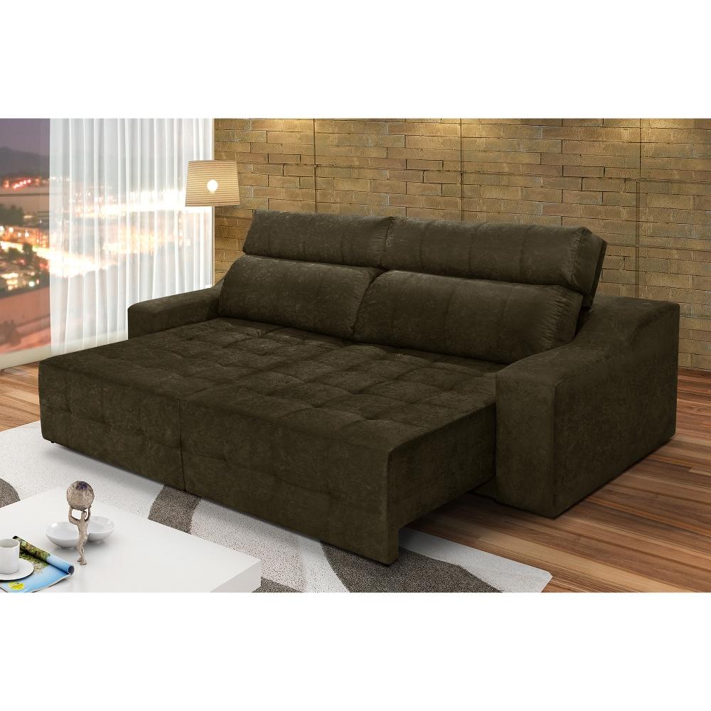 Superb Sofa 4 Lugares Connect Retratil E Reclinavel Suede Amassado Pdpeps Interior Chair Design Pdpepsorg