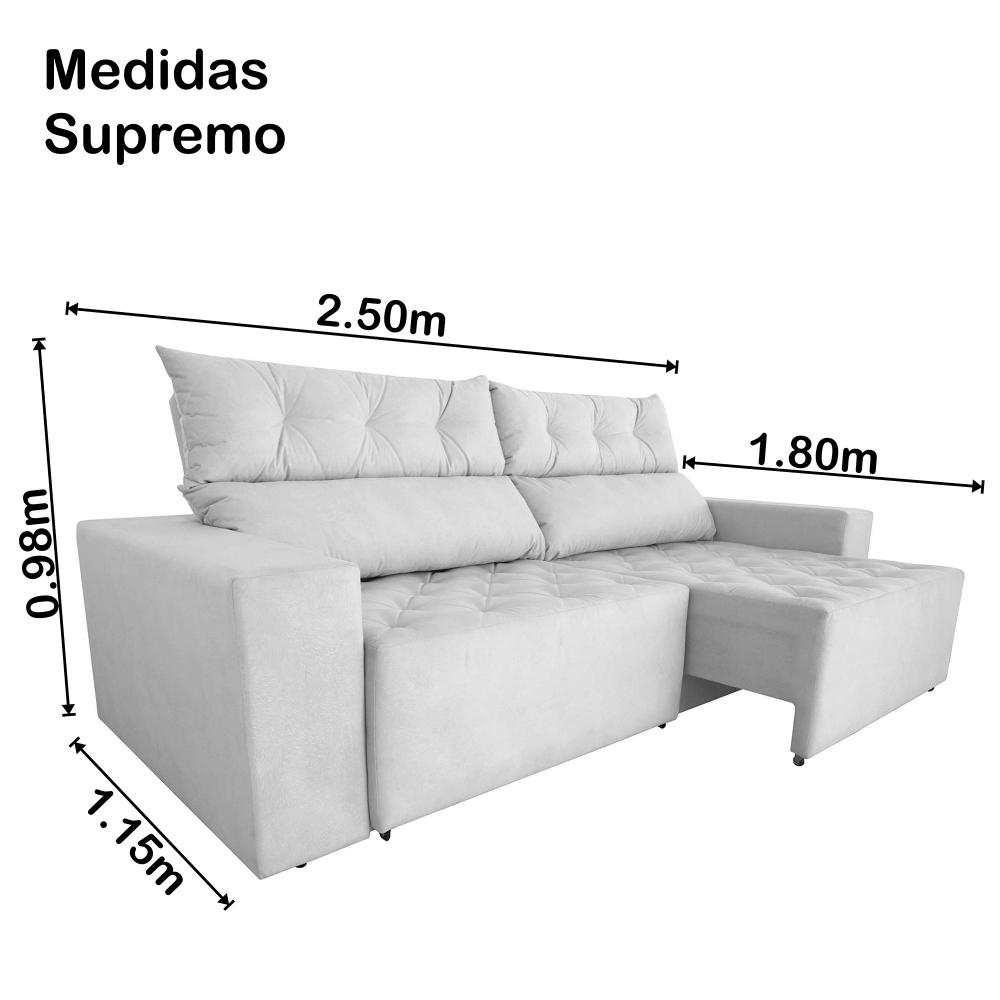 Magnificent Sofa 4 Lugares Gigante Supremo 2 50M Retratil E Reclinavel Pdpeps Interior Chair Design Pdpepsorg