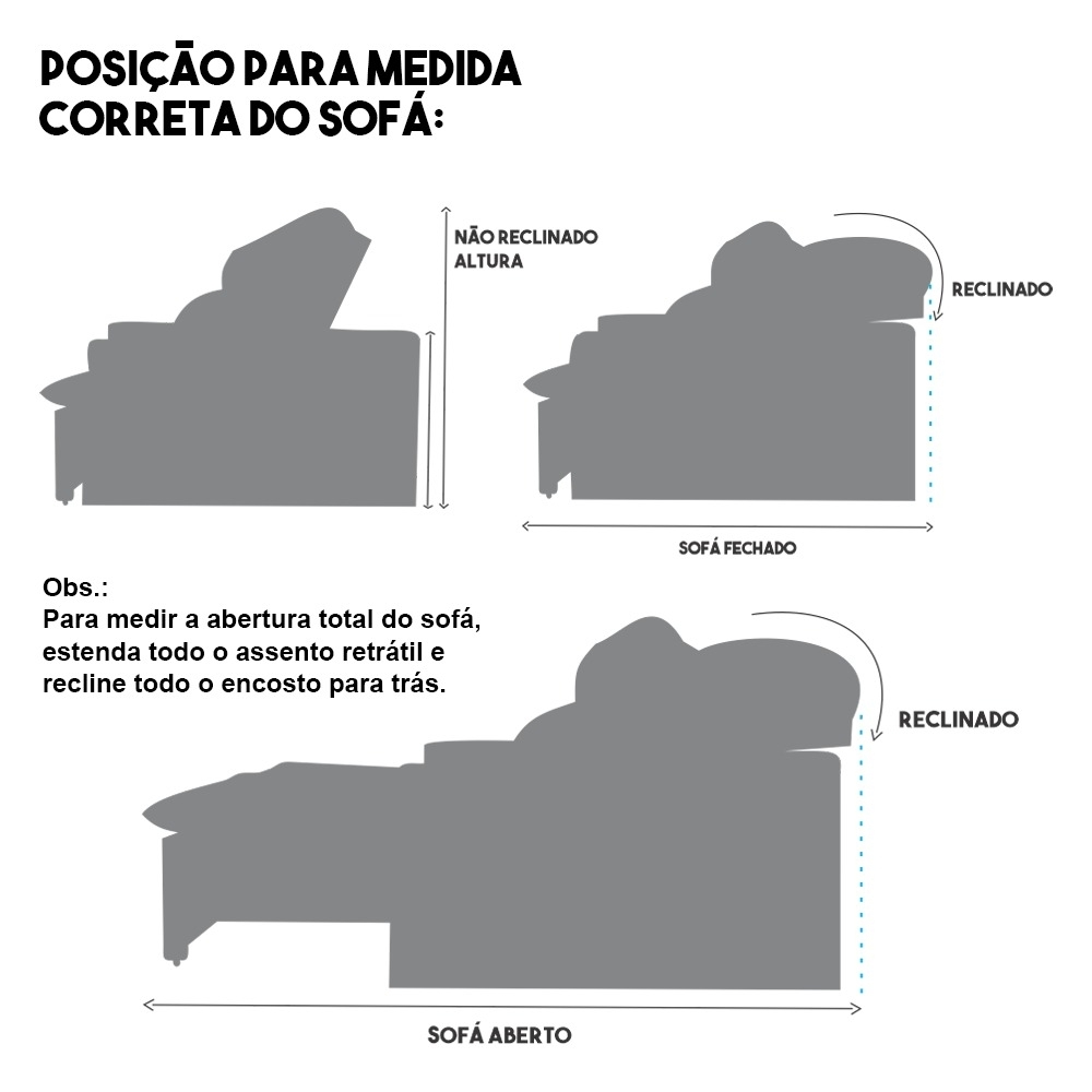 Foto 6 - Sofá 5 Lugares Connect 2,70m Retrátil e Reclinável com Pillow e Molas Veludo Cinza